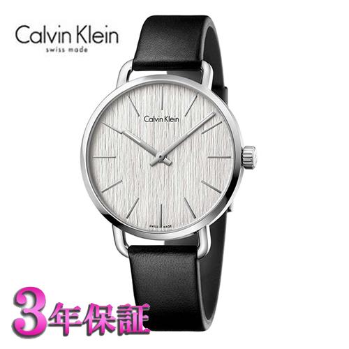 ()[正規品/3年保証付き] カルバンクライン イーブン 腕時計 シルバー文字板  メンズ 42mmサイズ Calvin Klein even K7B211C6  【名入れ】【のし】【包装】【メッセ入力】【送料無料】