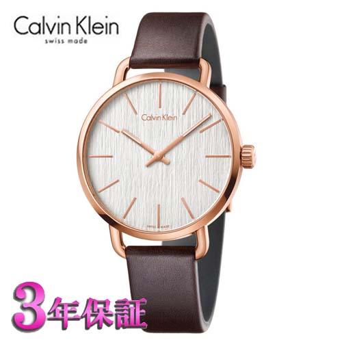 (あす楽)[正規品/3年保証付き] カルバンクライン イーブン 腕時計 シルバー文字板  ピンクゴールドケース メンズ 42mmサイズ Calvin Klein even K7B216G6  【名入れ】【のし】【包装】【メッセ入力】【送料無料】