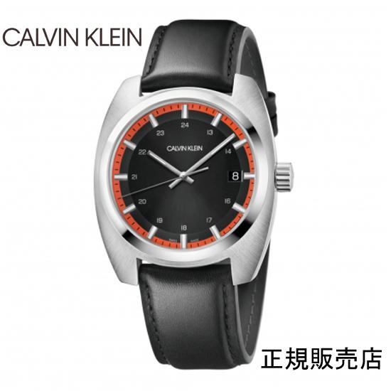 雑誌掲載モデル (正規品/3年保証付き) カルバン クライン アチーブ腕時計 K8W311C1 ブラックダイヤル  CALVIN KLEIN Achieve  メンズ 正規品 【送料無料】 【腕時計/刻印名入れ有料】02P04dec18