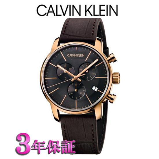 (あす楽)[正規品/3年保証付き]CALVIN KLEIN  カルバン クライン ウォッチ 腕時計  シティ  クロノグラフモデル ピンクゴールド  K2G276G3  メンズ【RCP】【楽ギフ_名入れ】【楽ギフ_包装】