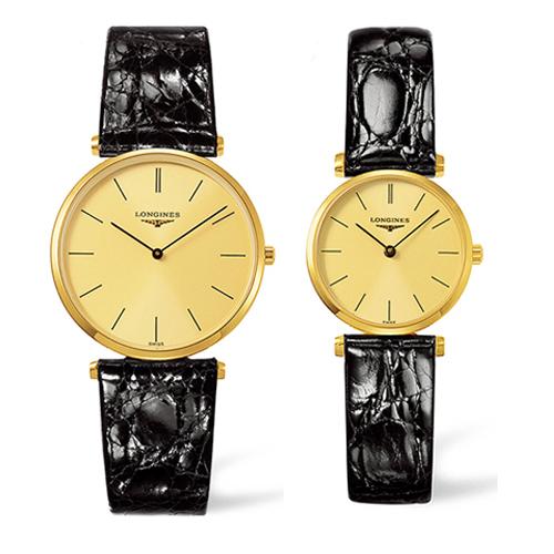 LONGINES ロンジン 腕時計 [ロンジン] ラ グラン クラシック ドゥ ロンジン ペア 腕時計 L4.755.2.32.2 (メンズ)L4.209.2.32.2(レディー)【送料無料】【10P04Mar19】L47552322