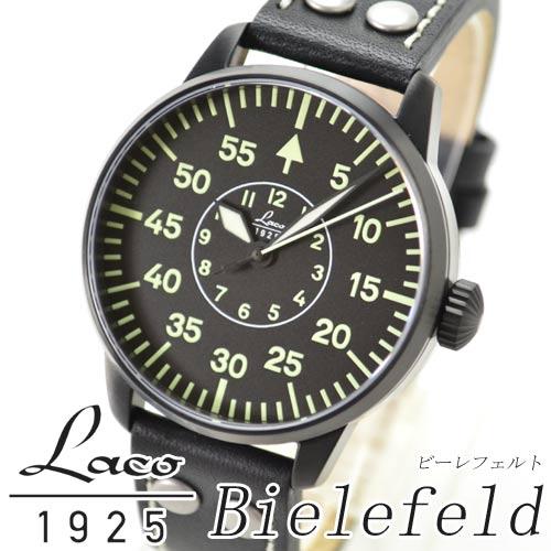 ラコ Laco 腕時計 861760 パイロットウォッチ 21系 自動巻シリーズ ビーレフェルト メンズ【楽ギフ_のし】