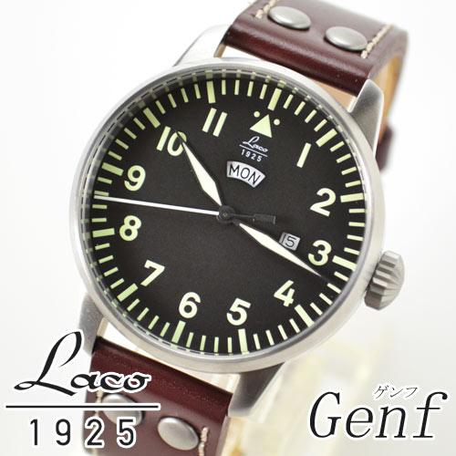 ラコ Laco 腕時計 861807 パイロット クオーツ シリーズ ゲンフ Genf メンズ【楽ギフ_のし】【楽ギフ_メッセ入力】【楽ギフ_名入れ】【新品】fs04gm【marathon0802_500】