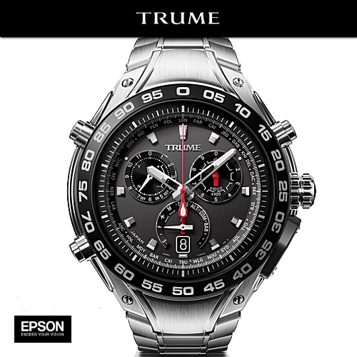 エプソン SEIKO TRUME TR-MB7001 チタン・メタルバンド GPS衛星電波時計 Lコレクション【送料無料】【高度】【方位】【気圧】【ウェイポイント】【温度】【歩数】【カロリー】【紫外線量】(2年間保証)