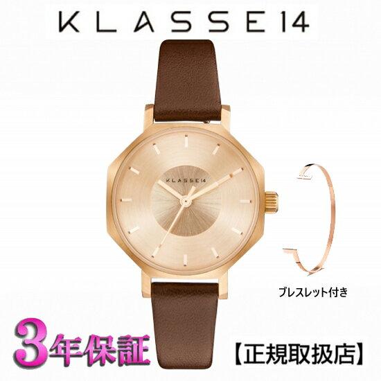 (あす楽)KLASSE14(クラス14) 腕時計 OKTO ROSEGOLD BROWN 28mm [ブレスレット付き] ローズオールド レザー メンズ レディース OK17RG001S [正規輸入品] 【楽ギフ_のし】【クリスマスプレゼント】