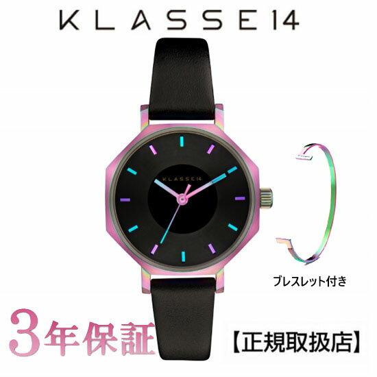 KLASSE14(クラス14) 腕時計 OKTO RAINBOW BLACK 28mm [ブレスレット付き] ブラック レザー メンズ レディース OK17TI001S [正規輸入品] 【楽ギフ_のし】【クリスマスプレゼント】