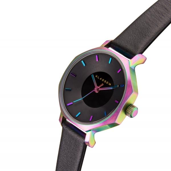 (あす楽)KLASSE14(クラス14) 腕時計 OKTO RAINBOW BLACK 28mm [ブレスレット付き] ブラック レザー メンズ レディース OK17TI001S [正規輸入品] 【楽ギフ_包装】【楽ギフ_のし】【楽ギフ_のし宛書】
