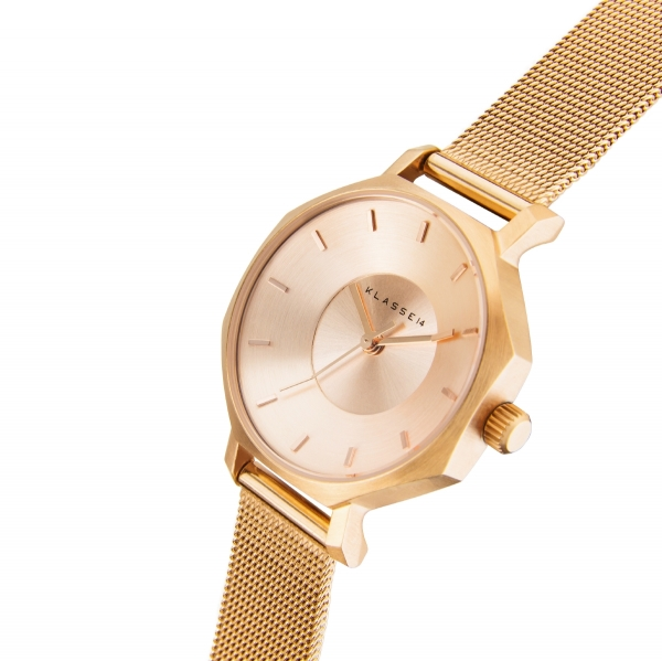 (あす楽)クーポン KLASSE14(クラス14) 腕時計 OKTO ROSEGOLD MESH 28mm [ブレスレット付き] ローズゴールド メッシュ メンズ レディース OK17RG002S [正規輸入品]  【楽ギフ_包装】【楽ギフ_のし】【楽ギフ_のし宛書】