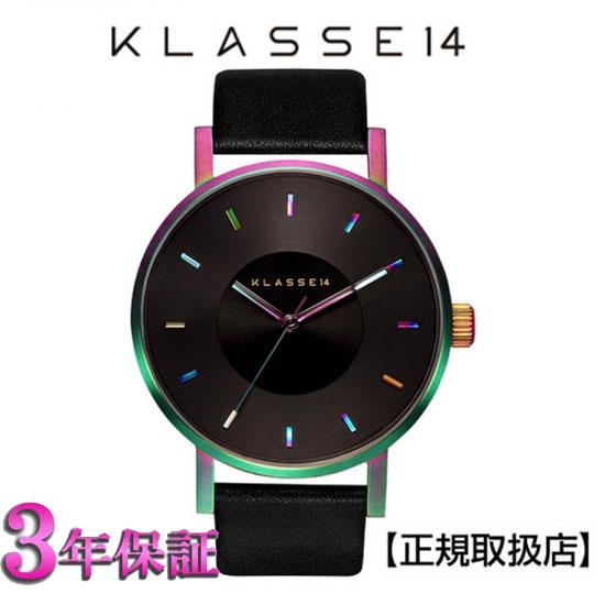 【クラス14】 KLASSE14 VOLARE RAINBOW 腕時計 (レインボー) ブラック 42mm 本革 メンズ VO15TI001M [正規輸入品] 【楽ギフ_のし】【楽ギフ_メッセ入力】