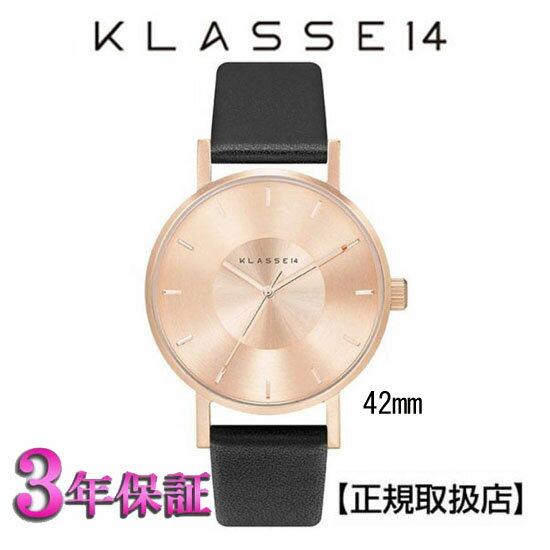 (あす楽)[クラス14]KLASSE14 腕時計 MARIO NOBILE VOLARE ROSE-GOLD/ブラック VO14RG001M 42mm【正規輸入品】 【楽ギフ_のし】【楽ギフ_メッセ入力】