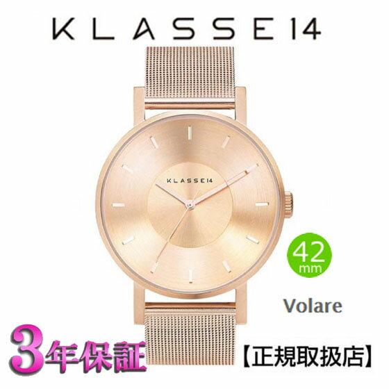 [クラス14]KLASSE14 腕時計 VO14RG003M  VOLARE Rose Gold 42mm 【正規輸入品】 【楽ギフ_のし】【楽ギフ_メッセ入力】