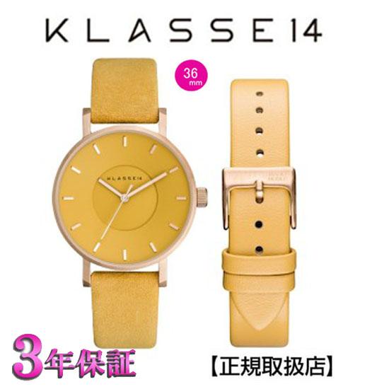 (あす楽)クラス14  KLASSE14 腕時計 VO17MV002W イエロー MISS VOLARE MUSTARD DIAL & STRAP    【正規輸入品】