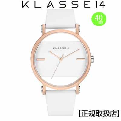 (あす楽)クラス14 Klasse14 腕時計  KLASSE14 Imperfect White Square IP Rose Gold IM18RG006M  (一部透過) 40mm 替えベルト付き【正規輸入品】 【楽ギフ_のし】【楽ギフ_メッセ入力】