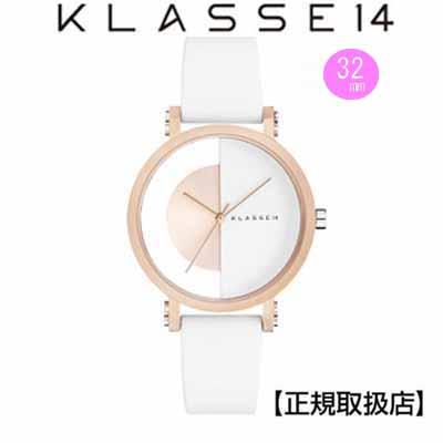 [クラス14]KLASSE14 腕時計 Imperfect Gold  Arch Rose Gold 32mm ホワイトダイヤル (一部透過) IM18RG007W 替えベルト付き【正規輸入品】 【クリスマスプレゼント】