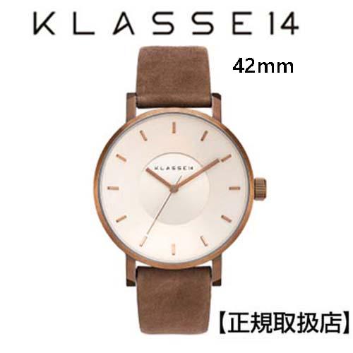 (あす楽)[クラス14]KLASSE14 腕時計 42mm Vintage gold stainless 本革バンド(スウェード) 【正規輸入品】 VO18VG001M 【楽ギフ_のし】【クリスマスプレゼント】