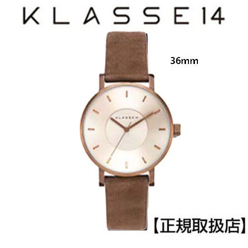 [クラス14]KLASSE14 腕時計  36mm Vintage gold stainless  本革バンド(スウェード)VO18VG001W 【正規輸入品】  【楽ギフ_包装】【楽ギフ_のし宛書】【楽ギフ_メッセ入力】【クリスマスプレゼント】