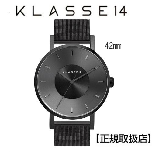 [クラス14]KLASSE14 腕時計 42mm VOLARE DARK METAL Black ステンレスメッシュバンド  【正規輸入品】 VO17BK005M 【楽ギフ_のし】【クリスマスプレゼント】