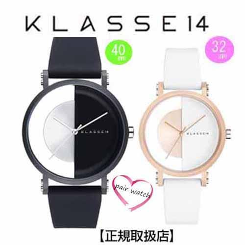 [クラス14]KLASSE14 腕時計 ペアウォッチ Imperfect Black Arch IP Black Case 40mm 32mm ブラックダイヤル (一部透過) IM18BK007M IM18RG007W【正規輸入品】 【クリスマスプレゼント】