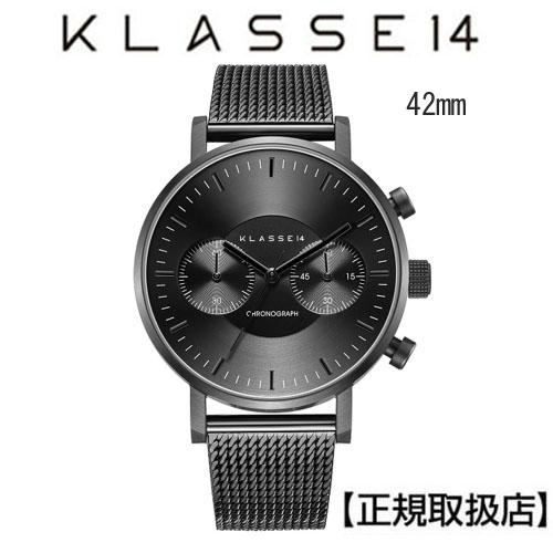 [クラス14]KLASSE14 腕時計 VO18CH010M  VOLARE CHRONOGRAPH DARK 42mm IP Black Mesh Band付【正規輸入品】 【楽ギフ_のし】【楽ギフ_メッセ入力】【クリスマスプレゼント】