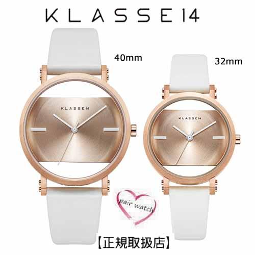[クラス14]KLASSE14 腕時計 ペアウォッチ Imperfect Gold  Arch Rose Gold 40mm 32mm ローズゴールロダイヤル 替えベルト付き(一部透過) IM18RG012M IM18RG012W【正規輸入品】 クリスマス1番人気!!
