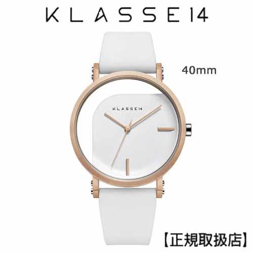 (あす楽)[クラス14]KLASSE14 腕時計 IMPERFECT ANGLE White 40mm ホワイトダイヤル (一部透過) WIM19RG009M ステンレスメッシュベルト付き【正規輸入品】 【楽ギフ_のし】7月発売モデル