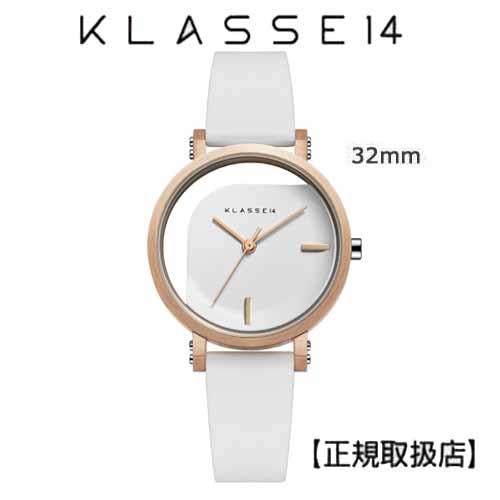(あす楽)[クラス14]KLASSE14 腕時計 IMPERFECT ANGLE White 32mm ホワイトダイヤル (一部透過) WIM19RG009Wステンレスメッシュベルト付き【正規輸入品】 【楽ギフ_のし】7月発売モデル