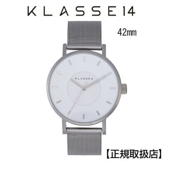 クラス14 KLASSE14 腕時計 メンズ  Volare Silver White with Mesh Strap 42mm WVO19SR005M メンズ ステンレスメッシュバンド  【正規輸入品】 【楽ギフ_のし】【クリスマスプレゼント】