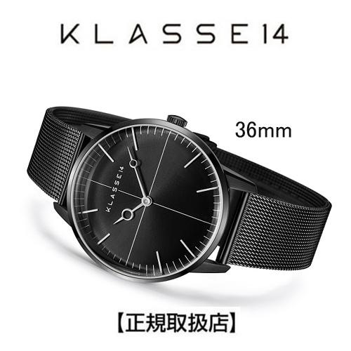 (あす楽)クラス14  KLASSE14 36mm レディース 腕時計 WDI19BB001W DISCO VOLANTE Black with Mesh Strap 【ホワイトデイ】【送料無料】