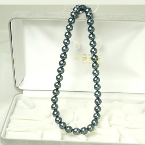 黒真珠ネックレス あこやソメ黒真珠 8.0-8.5mm【楽ギフ_のし】【楽ギフ_メッセ入力】【smtb-kd】fs04gm