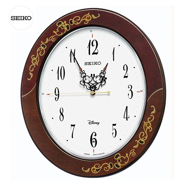 (11月23日発売)SEIKO CLOCK セイコー おとなデズニー  FS510B 壁掛け時計 ホワイト 電波クロック FS510B ディズニー【送料無料】【名入れ】【のし】【ギフト】【メッセージ】05P04Sep18