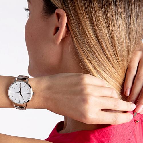 () [正規品/3年保証付き] カルバンクライン イーブン エクステンション ペア腕時計 K7B21126 K7B23126 シルバー文字板  42mm/36mmサイズ CALVIN KLEIN 【名入れ】【のし】【包装】【送料無料】【ホワイトデイ】