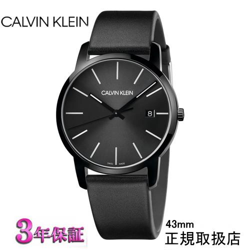 カルバン・クライン シティ 43mm 腕時計 CALVIN KLEIN City K2G2G4CX ブラック文字板 メンズ[正規輸入品/3年保証]【楽ギフ_名入れ】【のし】【送料無料】【安心の正規販売店】05P04Jun19
