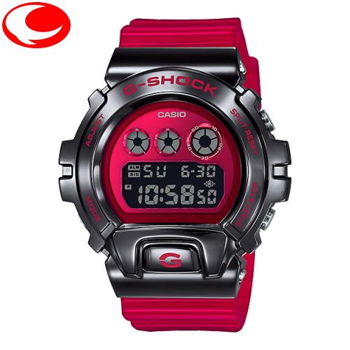(あす楽)カシオ CASIO G-SHOCK GM-6900B-4JF ブラック ステンレス メタルベゼル スケルトンバンド 腕時計【楽ギフ_メッセ入力】【送料無料】【20年2月発売モデル】