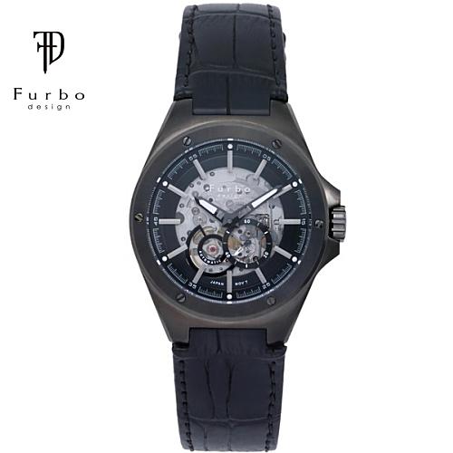 フルボ デザイン 自動巻き メンズ 腕時計 F2501GBKBK Furbo Design ブラック【送料無料】【ギフト】【日本製自動巻きムーブメント】
