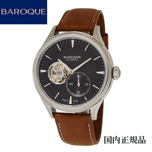 (あす楽)バロック(BAROQUE)腕時計 BA3002S-02BR 41mm メンズ 自動巻き セイコーエプソンYN77搭載 限定100本のみ製造 [正規輸入品]【楽ギフ_のし】【楽ギフ_メッセ入力】【楽ギフ_名入れ】