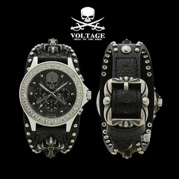 (あす楽)VOLTAGE ヴォルテージ 腕時計 VO-022S-02B  VOLTAGE  SENTINEL VIII センティカル 8 スカル【ギフト包装】【のし】【のし宛書】【メッセージカード】