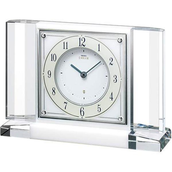 (あす楽)セイコー クロック 大理石枠 置時計 エムブレム (EMBLEM) HW564W 【送料無料】【名入れ】10P14Jun18b