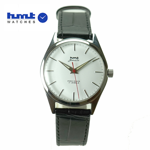 HMT 腕時計 JANATA ジャナータ H.JA.34.WHS.L 【正規品】 ※ファインボーイズ時計6月号記載モデル ホワイト文字板/ブラックベルト