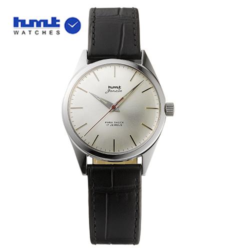 HMT 腕時計 JANATA ジャナータ コッパ H.JA.34.SLS.L 【正規品】 ※ファインボーイズ時計6月号記載モデル シルバー文字板/ブラックベルト