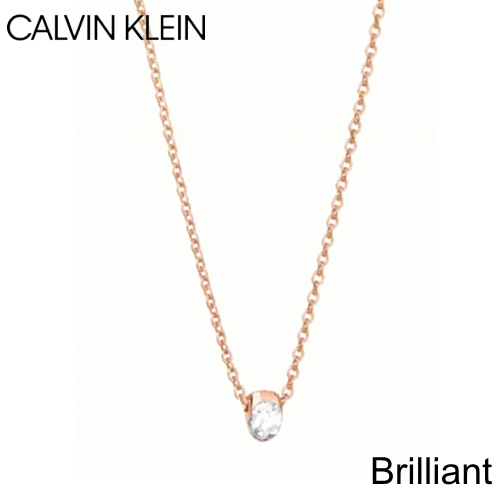 カルバンクライン ジュエリー CALVIN KLEIN JEWELRY ネックレス ペンダント Brilliant (ブリリアント)ピンクゴールド KJ8YPN140200 720mm レディ