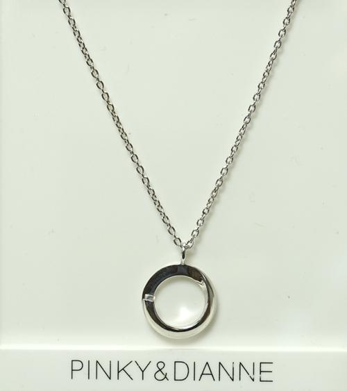 (あす楽)PINKY & DIANNE Silver ピンキー&ダイアン シルバー ネックレス キュービック SV(ロジウムメッキ)51489【送料無料】