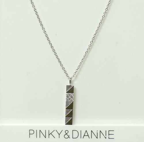 (あす楽) PINKY & DIANNE Silver ピンキー&ダイアン シルバー ネックレス キュービック SV(ロジウムメッキ) VPCPD51539【送料無料】