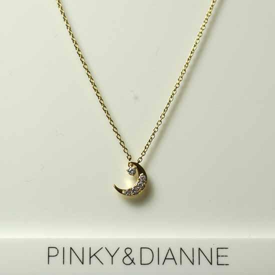 (あす楽)PINKY & DIANNE Dancing ピンキー&ダイアン ネックレス イエローゴールド キュービック SV(YGメッキ)51604【送料無料】