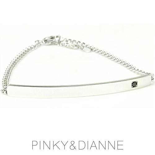 PINKY & DIANNE バーモチーフチェーンブレスレット シャープライン 53214