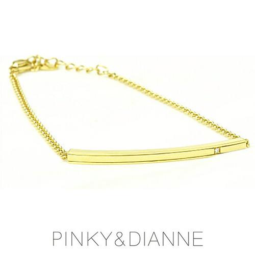 PINKY & DIANNE バーモチーフチェーンブレスレット シャープライン 53213