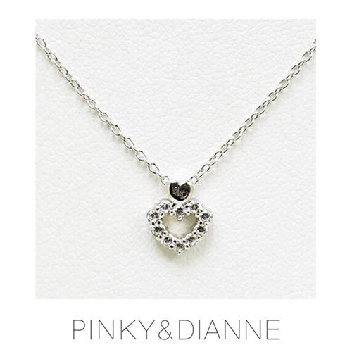 PINKY & DIANNE Brilliant HeartLine ピンキー&ダイアン ブリリアントハートライン ネックレス シルバー キュービック SV(ロジウムメッキ)51474【送料無料】