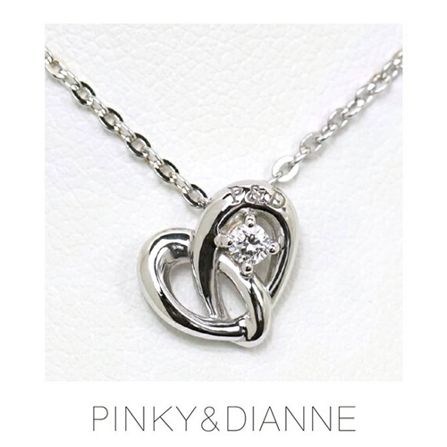 PINKY & DIANNE Endless Heart ピンキー&ダイアン エンドレスハート ネックレス シルバー キュービック SV(ロジウムメッキ)51371【送料無料】