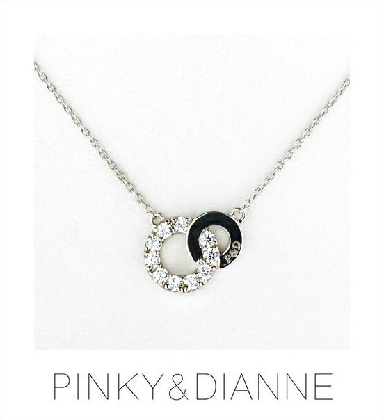 (あす楽) PINKY & DIANNE ネックレス Brilliant Circle ピンキー&ダイアン ブリリアントサークル ネックレス シルバー キュービック SV(ロジウムメッキ)51494
