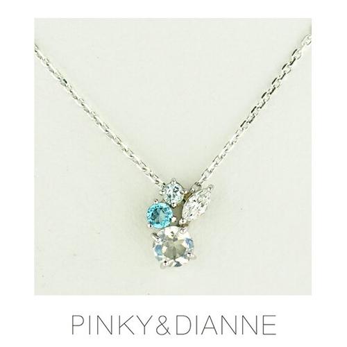 PINKY & DIANNE Lady Mode ピンキー&ダイアン レディーモード ネックレス シルバー キュービック SV(ロジウムメッキ)51569【送料無料】