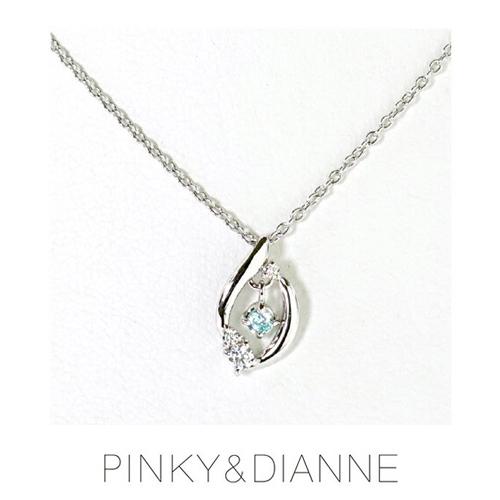 (あす楽)PINKY & DIANNE Precious Drop ピンキー&ダイアン プレシャスドロップ ネックレス シルバー ダイヤ キュービック SV(ロジウムメッキ)51580【送料無料】